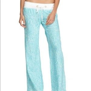 Lilly Pulitzer Linen Beach Pant Shorely Blue Ice